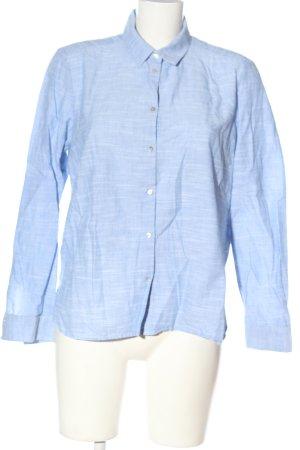 Esprit Langarmhemd blau meliert Business-Look