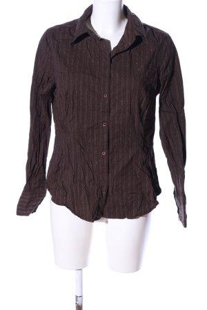 Esprit Camicia a maniche lunghe marrone motivo a righe stile casual