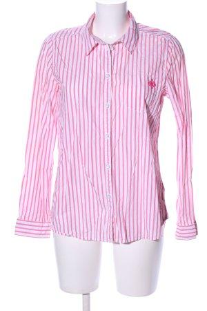 Esprit Langarmhemd pink-weiß Streifenmuster Casual-Look