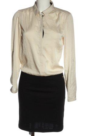 Esprit Langarmkleid creme-schwarz Elegant