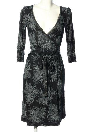 Esprit Langarmkleid schwarz-weiß Motivdruck Casual-Look