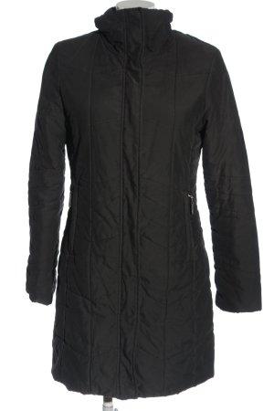 Esprit Lange Jacke schwarz Steppmuster Casual-Look