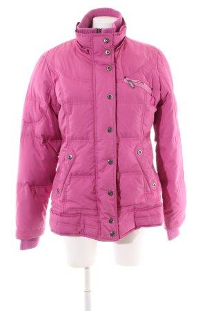 Esprit Lange Jacke pink Steppmuster Casual-Look