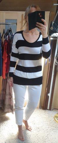 Esprit Długi sweter czarny-biały