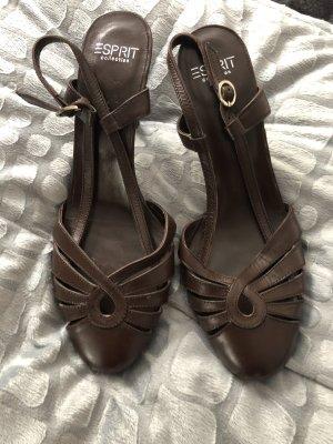 Esprit Leder Schuhe braun neu