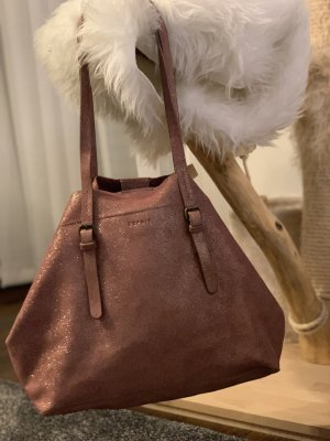 Esprit Leder shopper Glitzer Handtasche