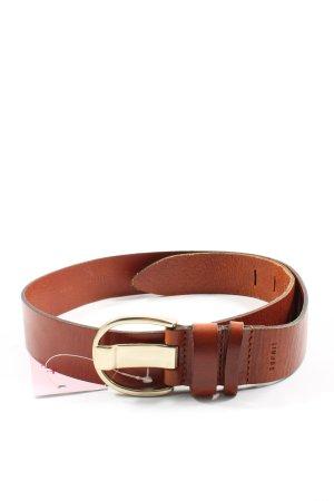 Esprit Cinturón de cuero marrón look casual