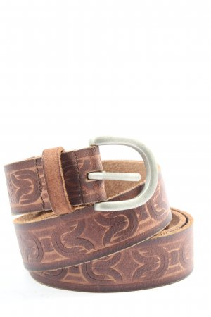 Esprit Leather Belt brown allover print casual look