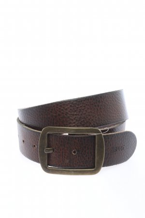 Esprit Leather Belt black-light orange color gradient casual look