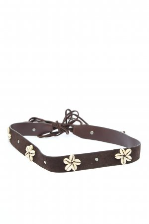 Esprit Leather Belt brown-natural white casual look