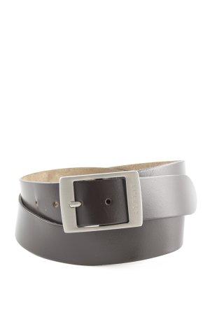 Esprit Cintura di pelle marrone stile professionale
