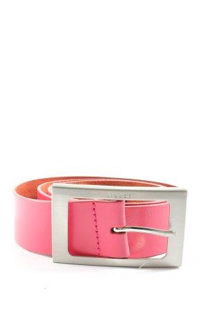 Esprit Cintura di pelle rosa stile casual