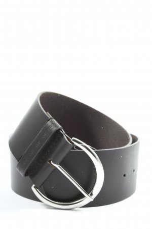Esprit Leather Belt black-silver-colored casual look