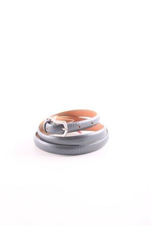 Esprit Cintura di pelle nero-arancione chiaro stile professionale