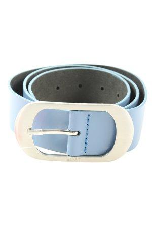 Esprit Ledergürtel blau Business-Look