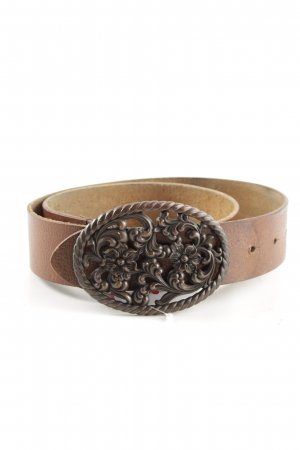 Esprit Cintura di pelle bronzo stile casual