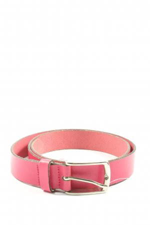 Esprit Cinturón de cuero rosa look casual
