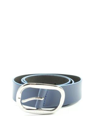 Esprit Cintura di pelle blu stile casual
