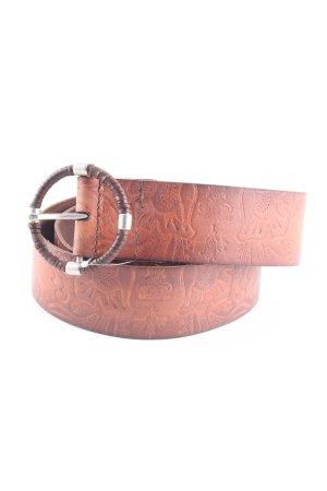 Esprit Lederen riem bruin zakelijke stijl