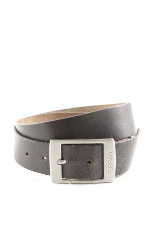 Esprit Leather Belt dark brown casual look