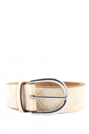 Esprit Leather Belt pink-natural white graphic pattern casual look