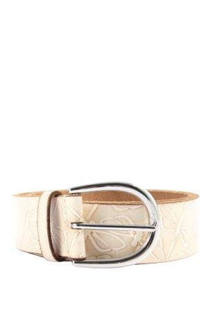 Esprit Cintura di pelle rosa-bianco sporco motivo grafico stile casual