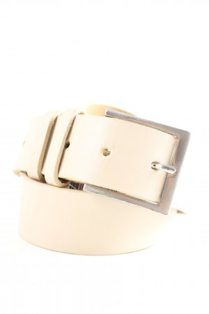 Esprit Leather Belt natural white casual look