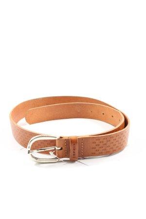 Esprit Cinturón de cuero marrón estilo «business»
