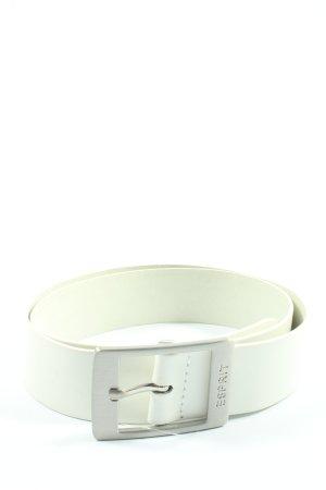 Esprit Cinturón de cuero blanco elegante