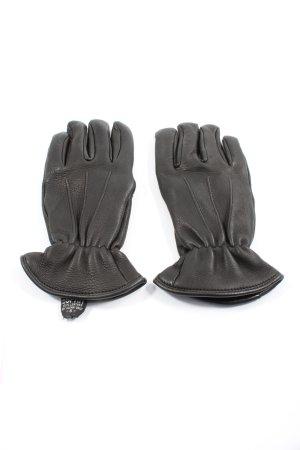 Esprit Gants en cuir noir style d'affaires