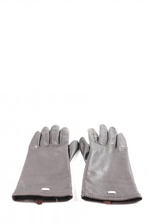 Esprit Leather Gloves brown casual look