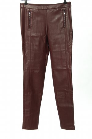 Esprit Leather Trousers red casual look