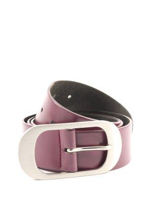 Esprit Cinturón de cuero de imitación rosa look casual