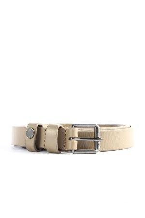 Esprit Cinturón de cuero de imitación crema look casual