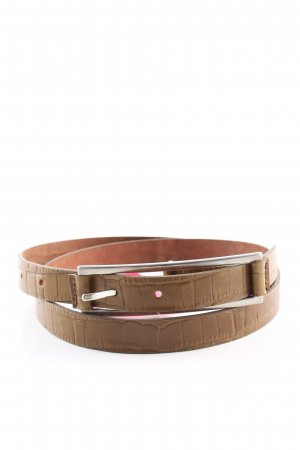 Esprit Faux Leather Belt brown animal pattern casual look