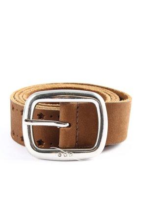 Esprit Cinturón de cuero de imitación marrón look casual