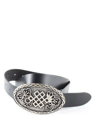 Esprit Cinturón de cuero de imitación negro look casual