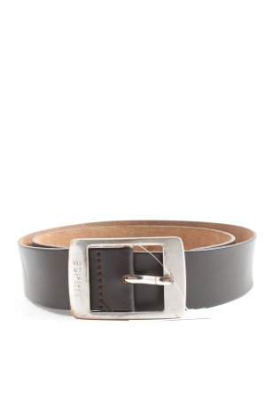 Esprit Faux Leather Belt brown Logo Application Metal