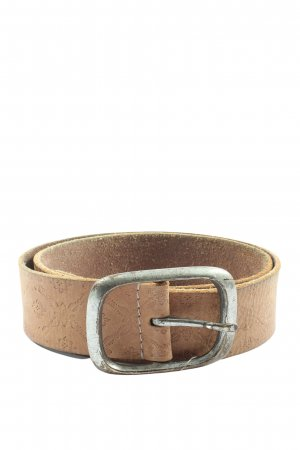 Esprit Faux Leather Belt brown abstract pattern casual look