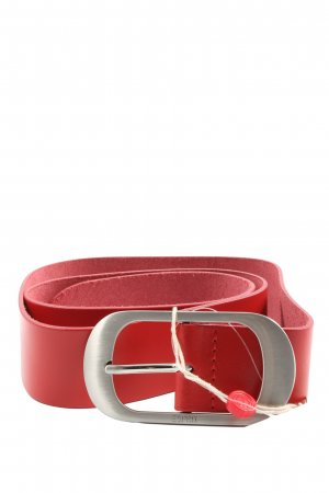 Esprit Ledergürtel rot Casual-Look