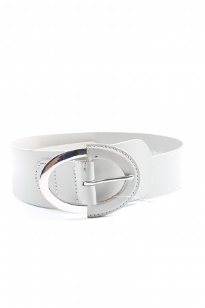 Esprit Faux Leather Belt white business style