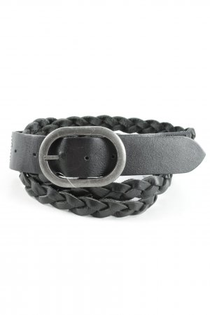 Esprit Faux Leather Belt black cable stitch casual look