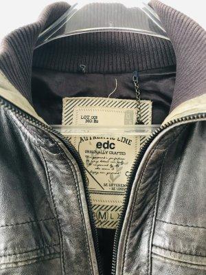 Esprit Lederjacke Vintage schwarz