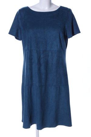 Esprit Lederkleid blau Business-Look