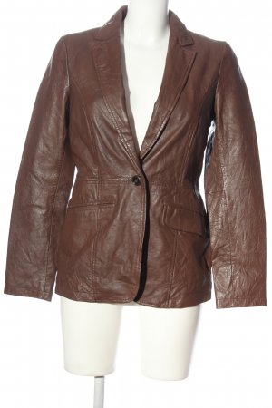 Esprit Leather Coat brown casual look