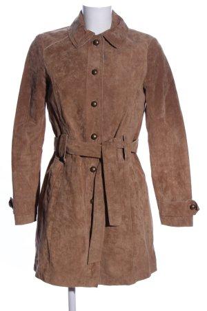 Esprit Leren jas bruin casual uitstraling