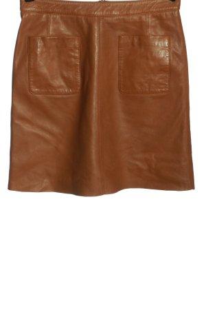 Esprit Skórzana spódnica brązowy W stylu casual