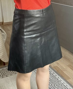 Esprit Leather Skirt black leather