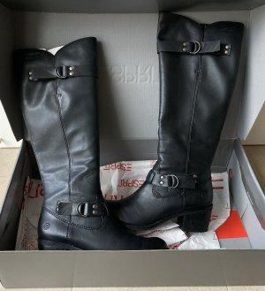 Esprit Lederstiefel Stiefel schwarz Gr. 38