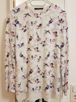 Esprit legere Bluse mit Vogelprint